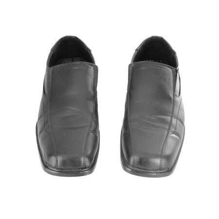Men's black shoes on a white background Stock Photo - 18590419