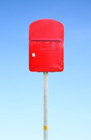 mailbox with a blue sky photo