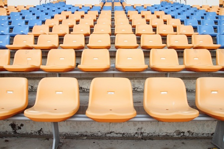 empty seats at the sports stadium Stock Photo - 18858204