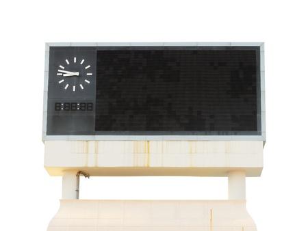 score board on a white background