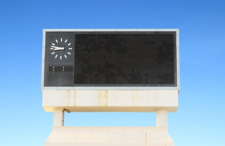 score board: score board at football stadium with bluesky