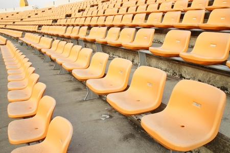 empty seats at the sports stadium photo