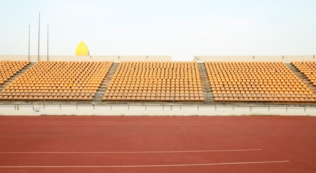 empty seats at the sports stadium photo