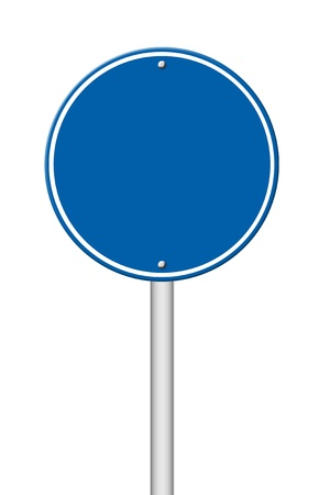 blank circle sign on white background photo