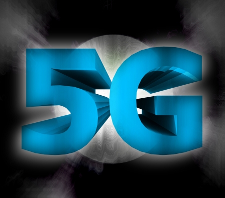 abstract of 5G network symbol photo