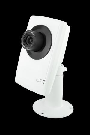 ip camera: security camera on black background