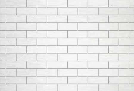 white wooden wall texture background (block style) photo