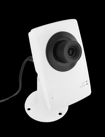 security camera on black background Stock Photo - 20446232