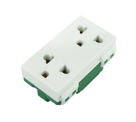 Electrical outlet (socket plug) on white background Stock Photo - 20446157