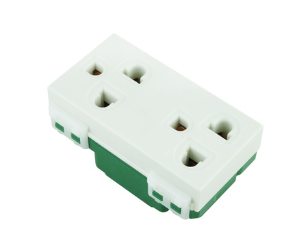 Electrical outlet (socket plug) on white background Stock Photo - 20446146