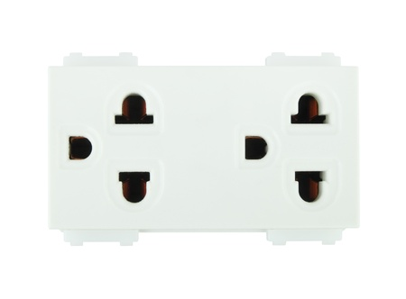 Electrical outlet (socket plug) on white background Stock Photo - 20446162