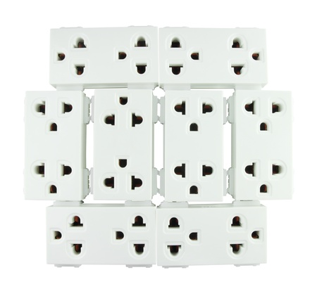 Electrical outlet (socket plug) on white background Stock Photo - 20446246