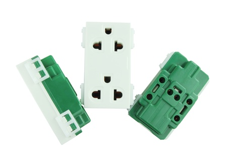 Electrical outlet (socket plug) on white background Stock Photo - 20446262