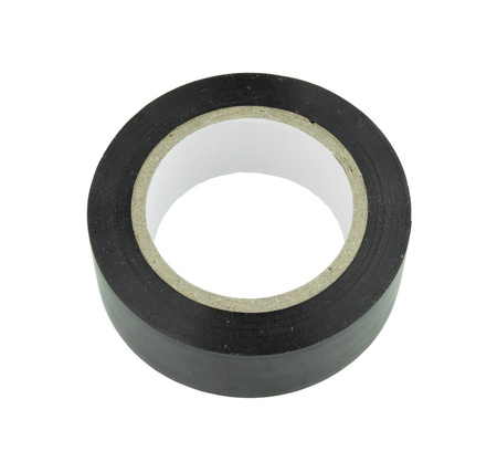 gaffer: Roll of duct tape on white background (with clipping path)
