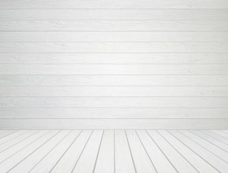 room interior with white wood wall and wood floor background