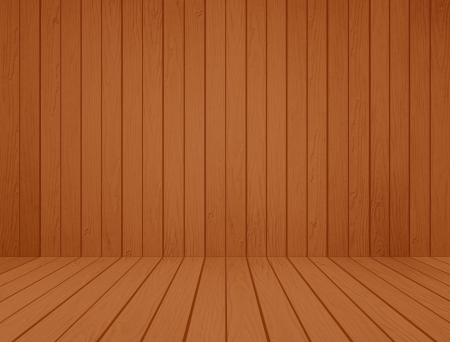 room interior with wood wall and wood floor background photo