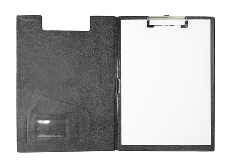 blank clipboard on white background (with clipping path) photo