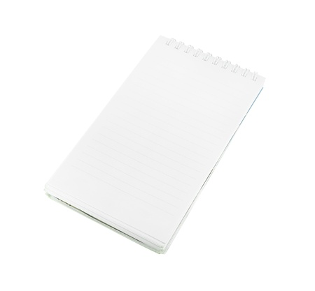 paper notebook vertical on white background (with clipping path) photo