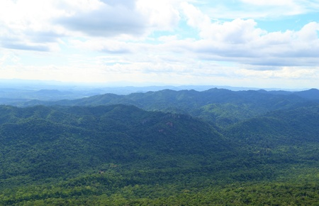 Pung Hei mountain with sky landscape at Chaiyaphum Province, Thailand photo