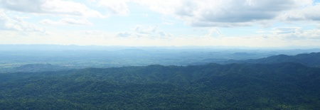 Pung Hei mountain with sky panorama landscape at Chaiyaphum Province, Thailand photo