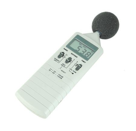 Sonomètre (affichage show faible niveau) sur fond blanc Banque d'images - 21194796