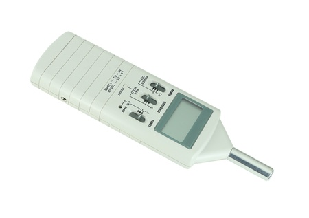 sound level meter on white background (with clipping path) photo