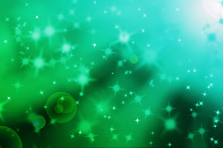 abstract magic light rays background with glowing star particles photo