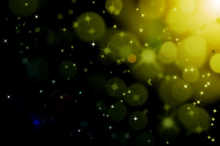 abstract magic sun light ray with glittering stars and bokeh photo