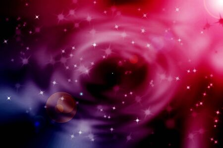 len: abstract magic sun and len flare with nebula storm