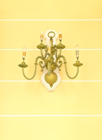 antique luxurious ornate gold wall chandelier photo