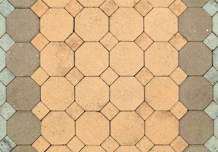 octogonal: octogonal de ladrillo pasarela pavimento de textura de fondo