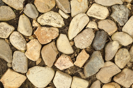 close-up of pebble stones texture background photo
