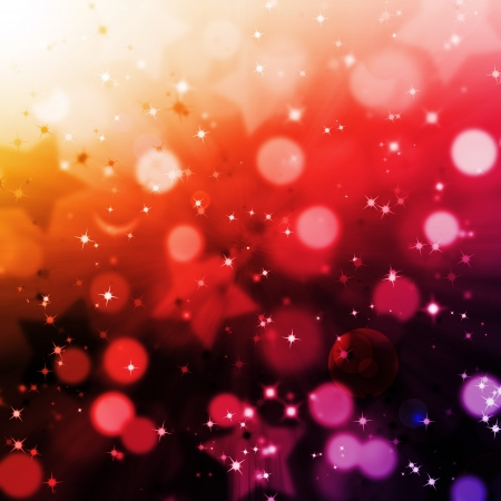 abstract magic bokeh and star lighting  background with flare photo