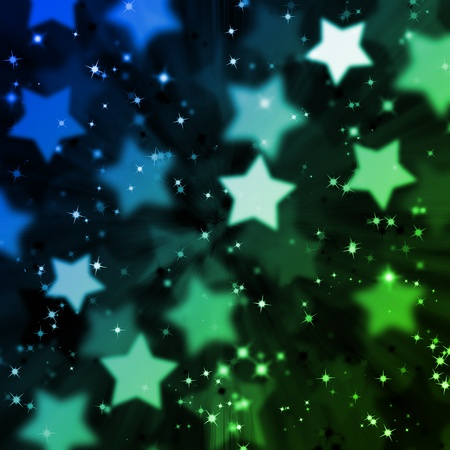 abstract magic star lighting background Stock Photo