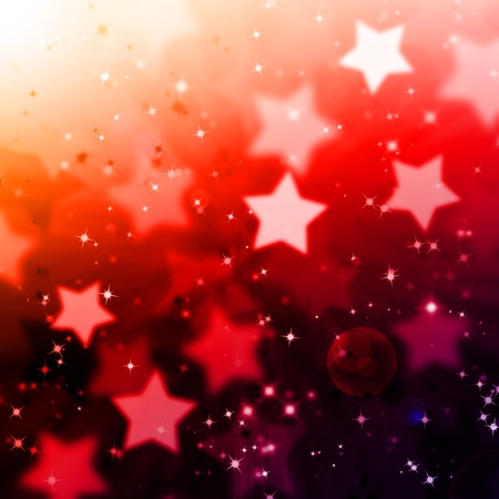 abstract magic star lighting background with flare photo