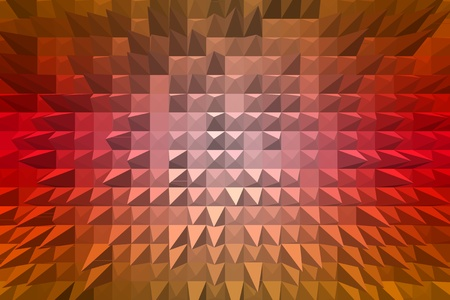 extrude: abstract background with 3d pyramid extrude