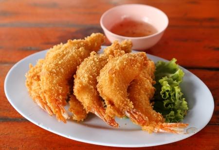 Shrimp Fritter on dish