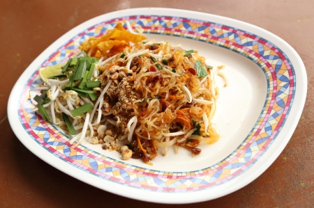 Pad Thai (fried thin noodles with soy sauce), Thai style food photo