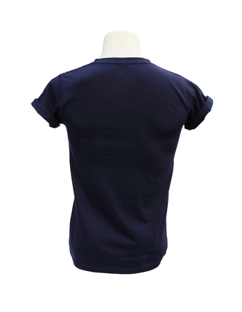 male tshirt template on the mannequin (back side) on white background (with clipping path) photo