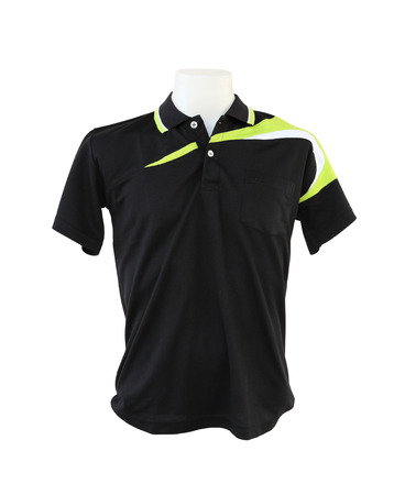 male shirt template on the mannequin on white background  with clipping path  photo
