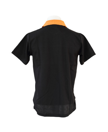 male shirt template (back side) on the mannequin on white background  photo