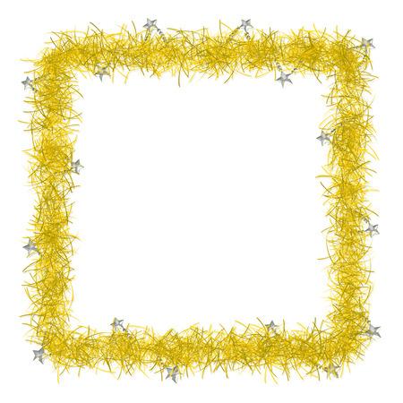 weihnachten gold: Gold Weihnachten Lametta Hintergrund Textur leere f�r Text Lizenzfreie Bilder