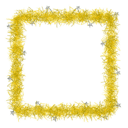 gold christmas tinsel texture background blank for text