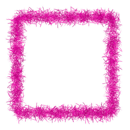 space text: pink christmas tinsel texture background blank for text