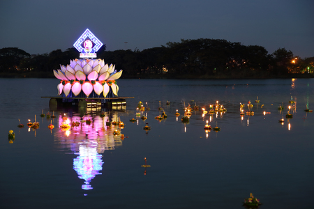 Loy kratong festival of thailand