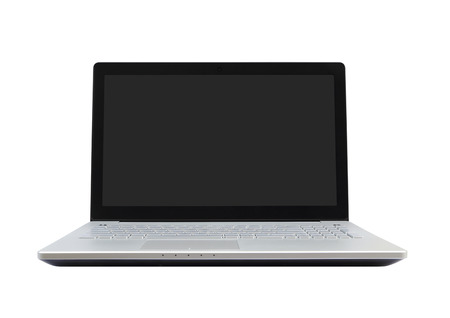 laptop computer on white background (with clipping path)