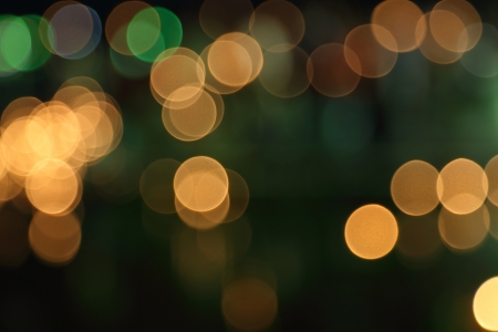 abstract background of blurred warm lights with bokeh effect Stock Photo