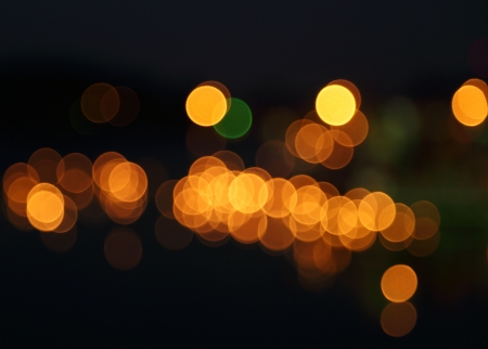 abstract background of blurred warm lights with bokeh effect Banco de Imagens