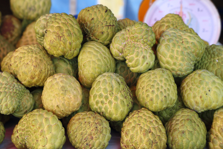 sugar apple in the market photo