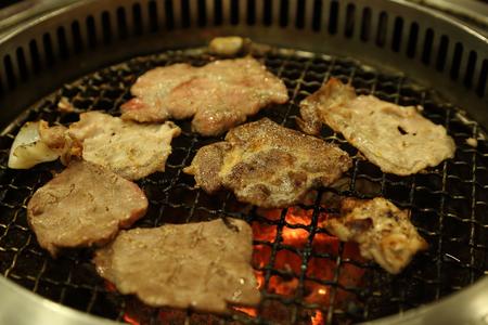 yakiniku: Korean barbecue Yakiniku in restaurant